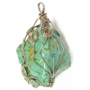 Turquoise Natural 40x45mm Wired Pendant Semi-Precious